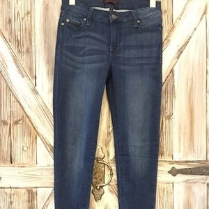 Midrise ankle skinny jeans